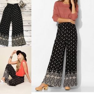 Urban Outfitters Ecote Wide Leg Pants Black